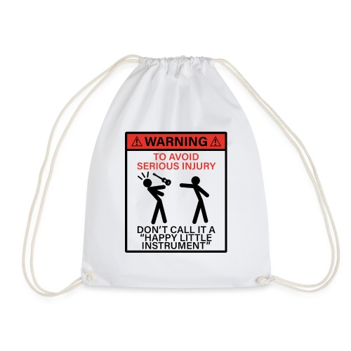 injury happy - Drawstring Bag