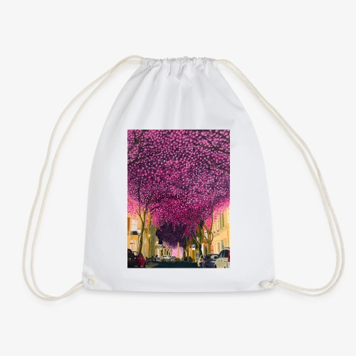 A street at night - Drawstring Bag