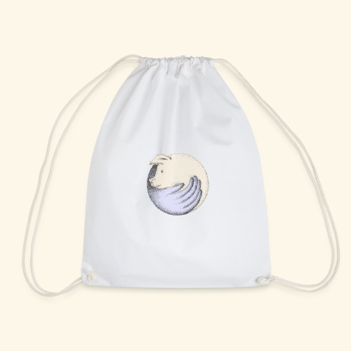 Save a pig, save the planet - Drawstring Bag