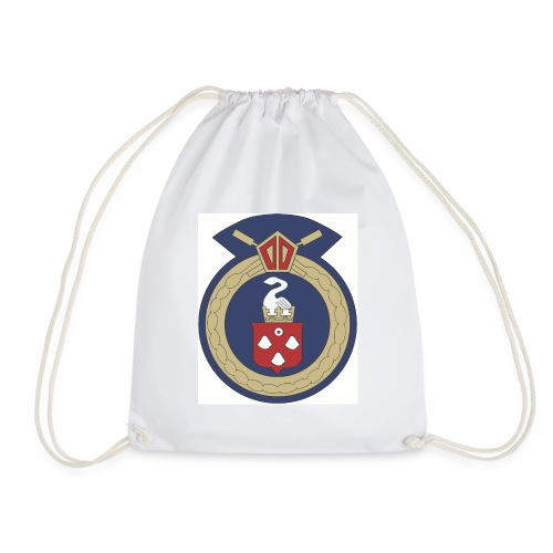 13 Eastleigh Badge White - Drawstring Bag