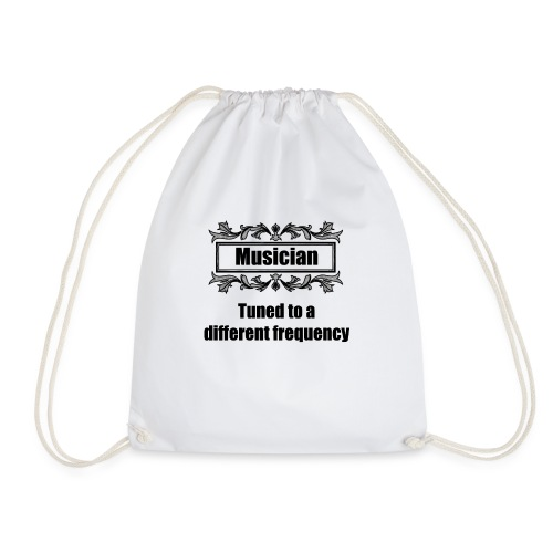 Musician tuned to a different frequency - Drawstring Bag