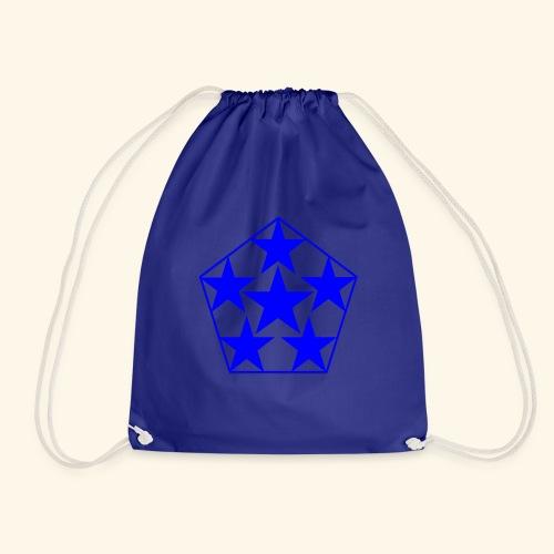 5 STAR Sterne blau - Turnbeutel