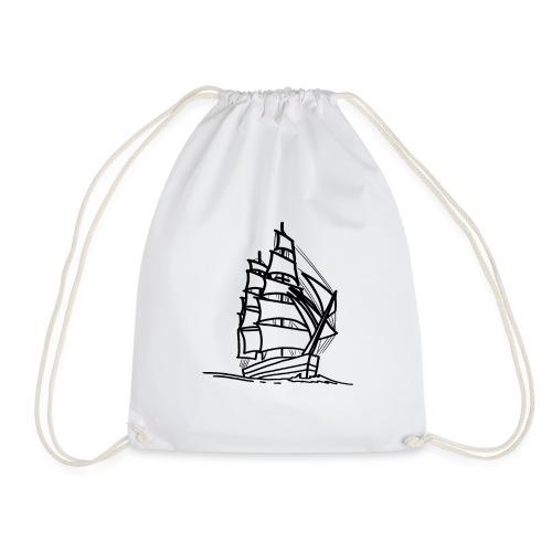 Segelschiff Illustration Meer Schiff Bootsfahrt - Turnbeutel