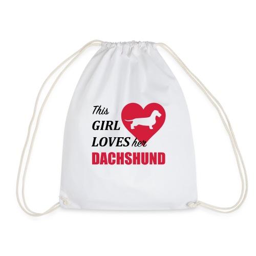 This Girl loves her Dachshund - Turnbeutel