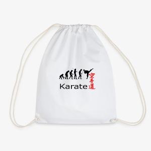 Karate Silhouette - Turnbeutel