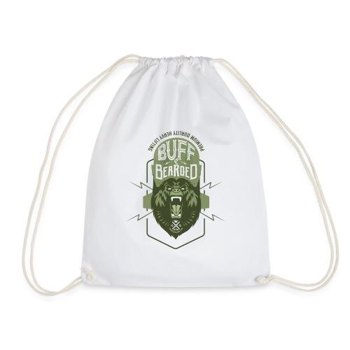 HVYW8 Buff and Bear-ded - Drawstring Bag