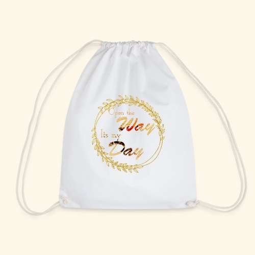 its my day weddingcontest - Drawstring Bag