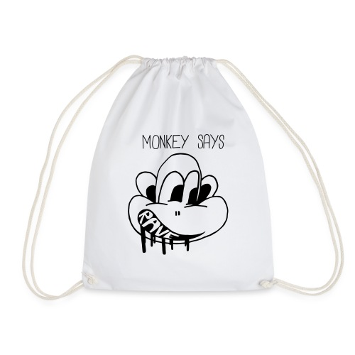 Monkey Says Rave - Drawstring Bag