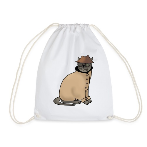 Secret cat - Drawstring Bag