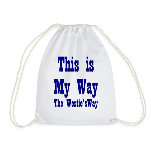 This is My Way Navy - Drawstring Bag
