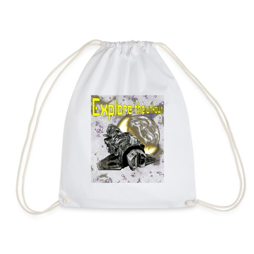 Explore the unknown - Drawstring Bag