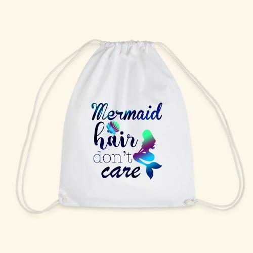 Mermaid Hair Don't Care - Drawstring Bag