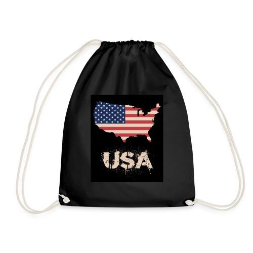 USA FLAG 4th of July With Flag - Gymnastikpåse