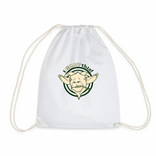 Funny Play on Words Goat Animal - Drawstring Bag
