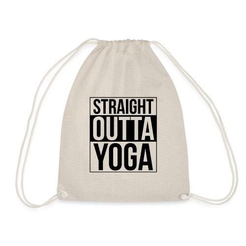 Straight Outta Yoga Design - Drawstring Bag