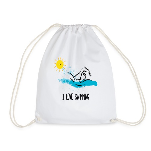 love swimming tchirt - Sac de sport léger