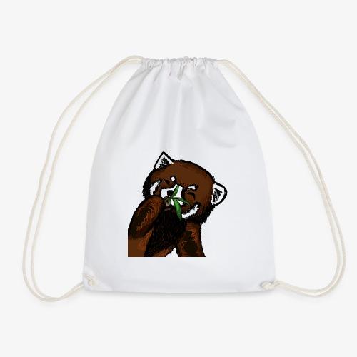 Cute red panda with Bamboo Wildlife T-Shirt - Drawstring Bag