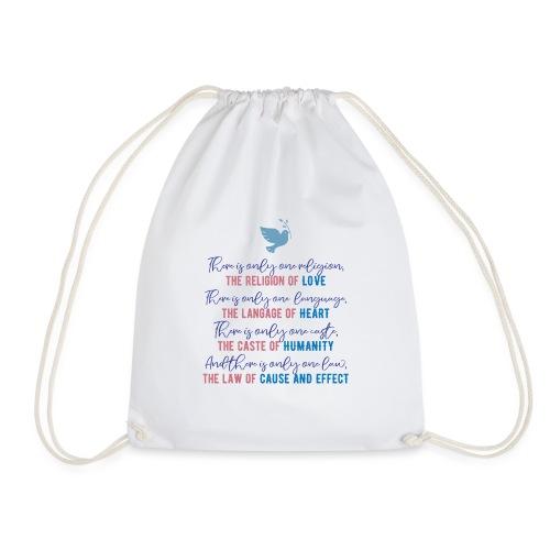 The Religion of Love - Drawstring Bag
