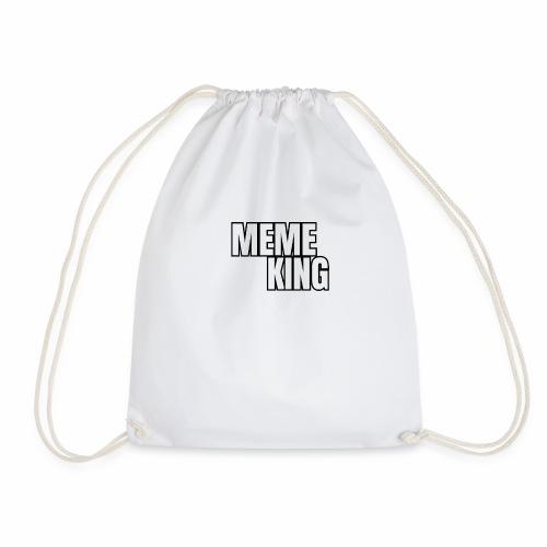 MEME KING schwarz/ weiß - Turnbeutel