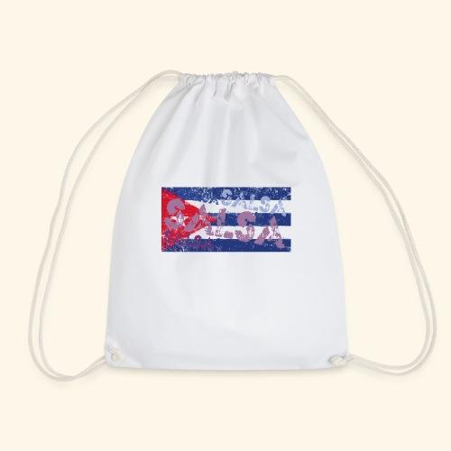 Cuban salsa and Cuban flag dance shirt - Drawstring Bag