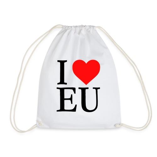 i love eu - Drawstring Bag