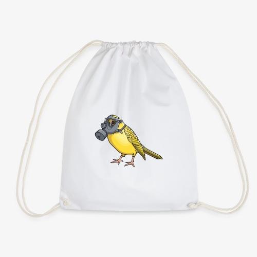 Vogel mit Gasmaske - Turnbeutel