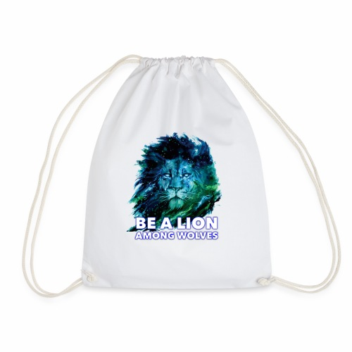 BE A LION AMONG WOLVES DESIGN - Gymtas