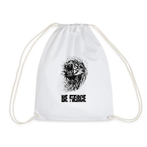 Tiger 'Be Fierce' Design - Turnbeutel