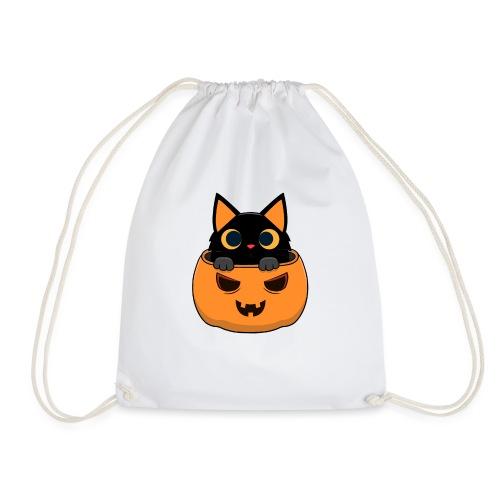 Halloween Katze Kürbis - Turnbeutel