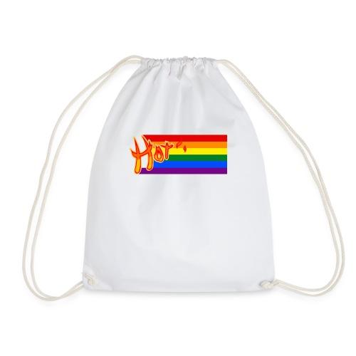 Hot lgbt flagge rainbow gay lesbian typography - Turnbeutel