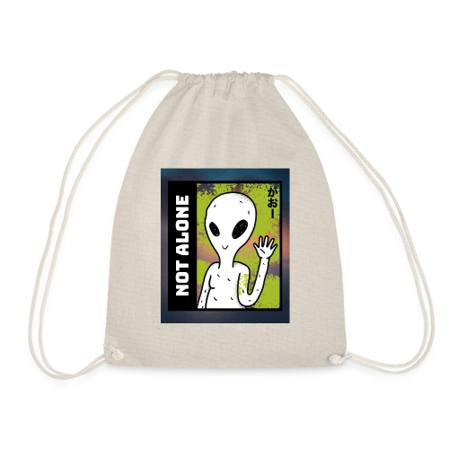 alien t shirt design maker featuring a smiling ali - Sportstaske