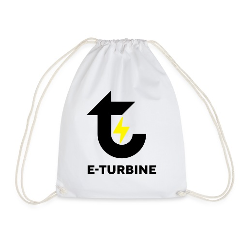 logo schwarz - Turnbeutel