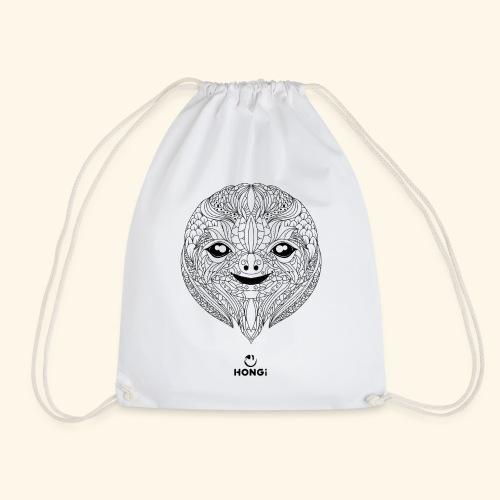 HONGi Sloth blackwhite s - Turnbeutel