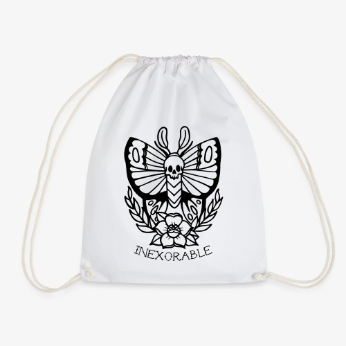 Traditional Tattoo Moth - Drawstring Bag