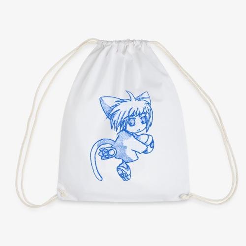 Puccina Matita blu (style manga, grezzo) - Sacca sportiva