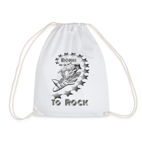 Born to Rock grau - Turnbeutel