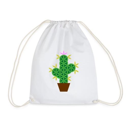 The Cactus Of Life - Sacred Plants - Drawstring Bag