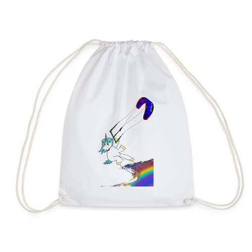 Kiting Unicorn - Kite Einhorn - Turnbeutel