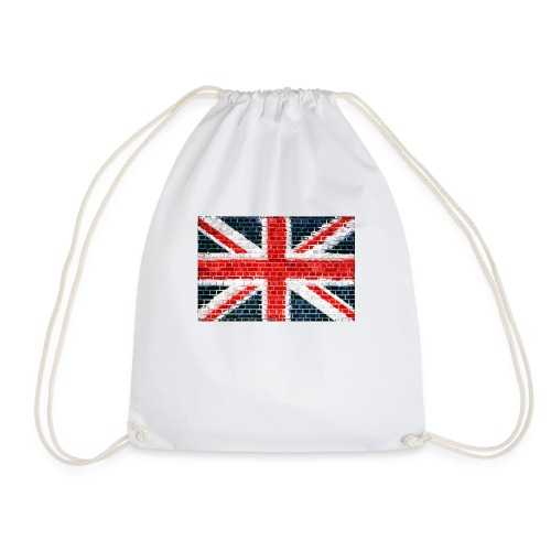 Union Jack Brick Wall - Drawstring Bag