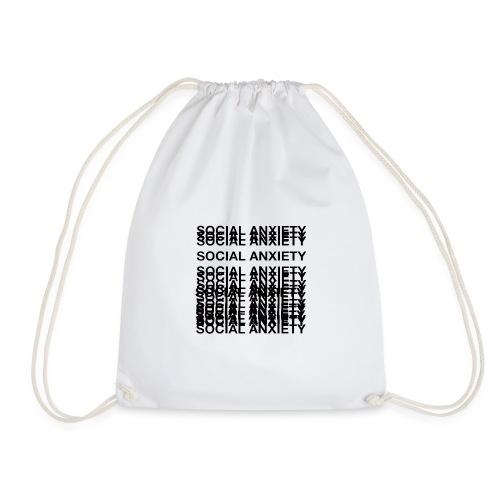 anxiety amazon logo - Drawstring Bag