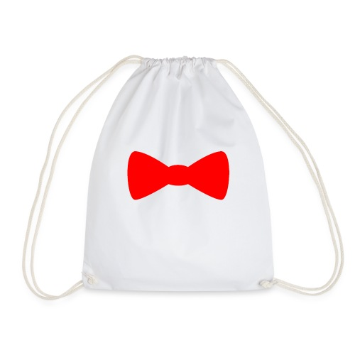 Red Bowtie - Drawstring Bag