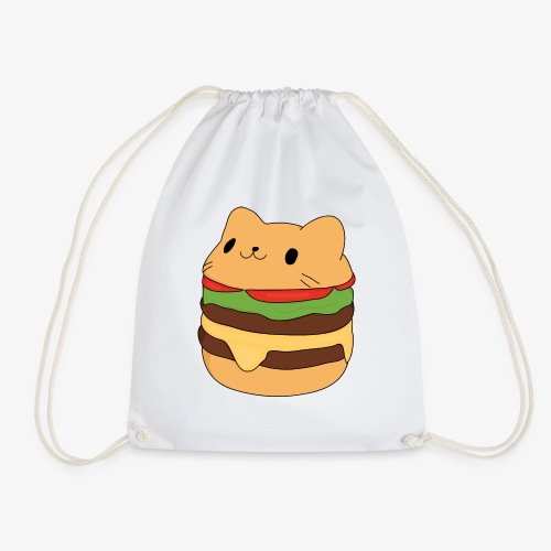 cat burger - Drawstring Bag