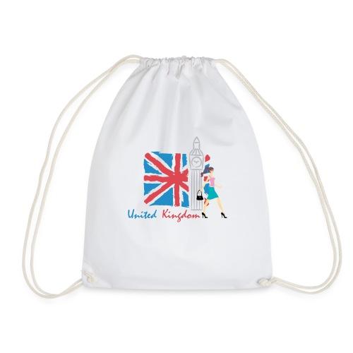 Funny United Kingdom Shopping Shirt - Drawstring Bag