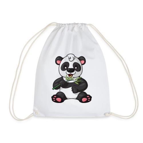 Panda Bambus Comic niedlich - Turnbeutel