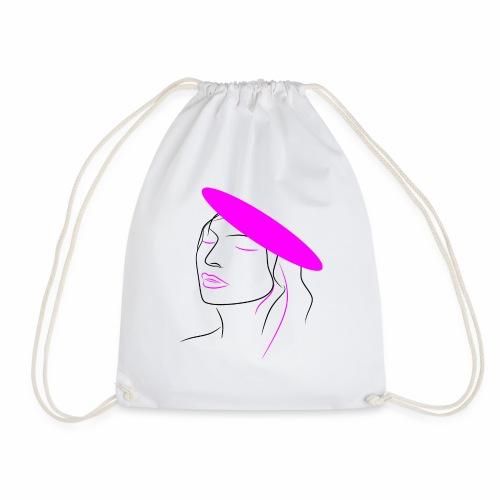 Pink woman - Drawstring Bag