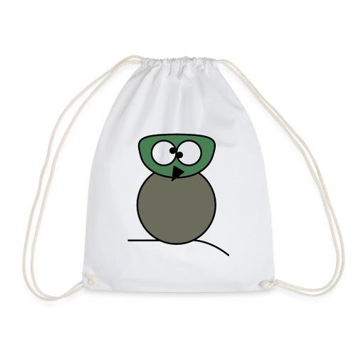 Owl crazy - c - Drawstring Bag