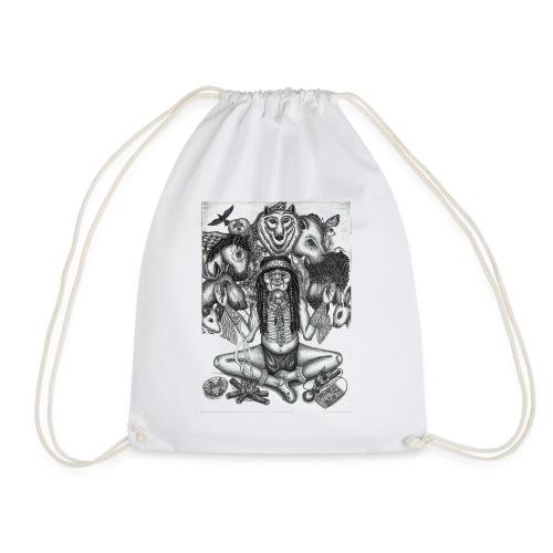 The Shaman (native american) - Drawstring Bag
