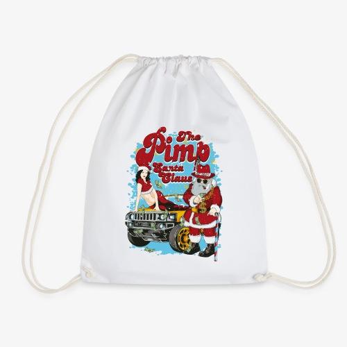 PIMP SANTA- Partie Weihnachtsmann Pin-Up Shirt - Turnbeutel