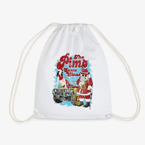 THE PIMP SANTA- Partie Weihnachtsmann Pin-Up Shirt - Turnbeutel