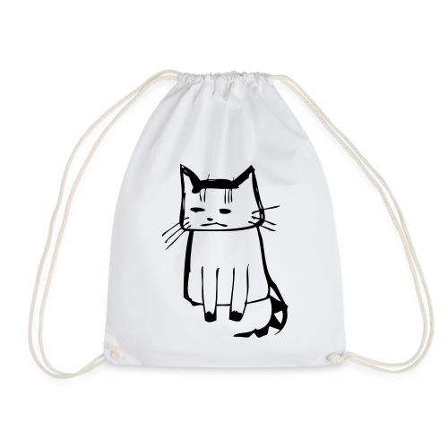 cat drawings on t shirt - Turnbeutel